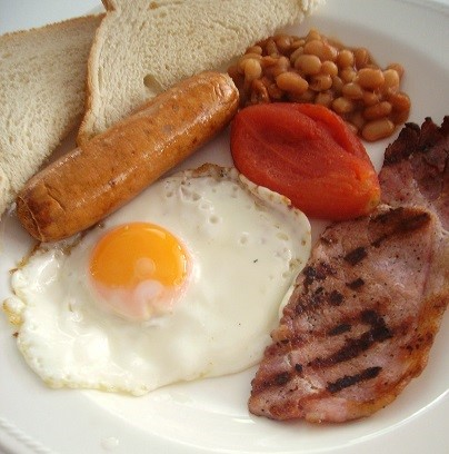 Cooked breakfast at business networking event sussex