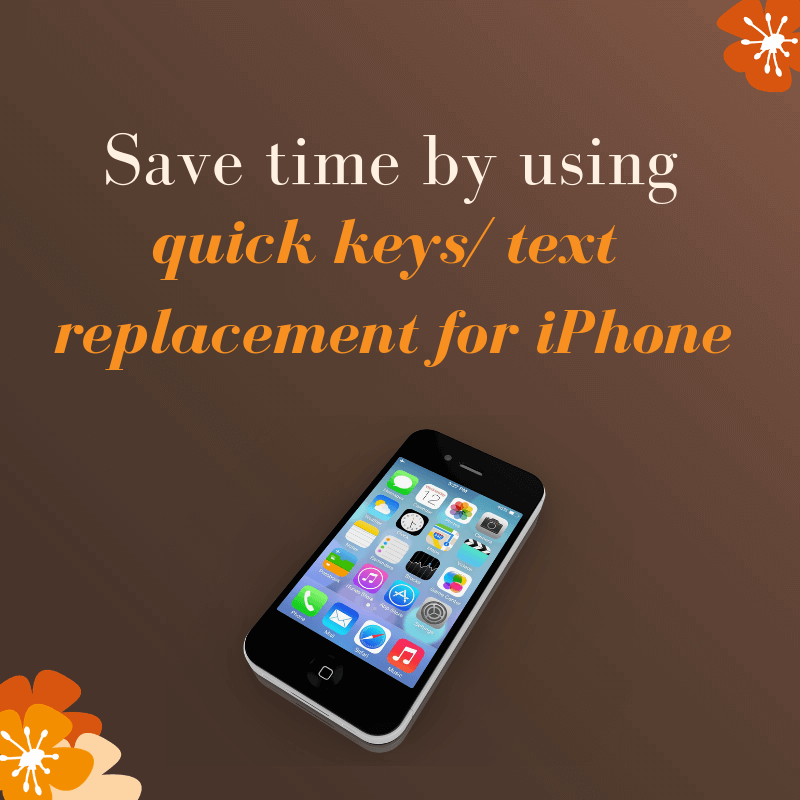Save time entering your email address by using Quick Keys/ Text Replacement on your iPhone