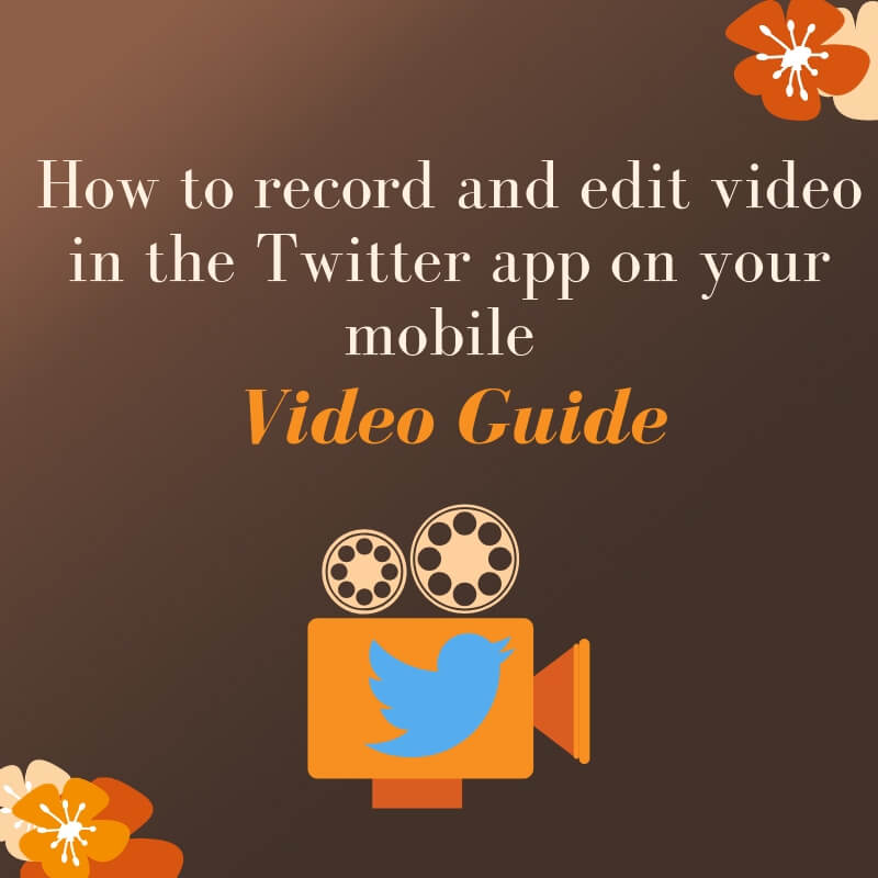 How to record video in Twitter app