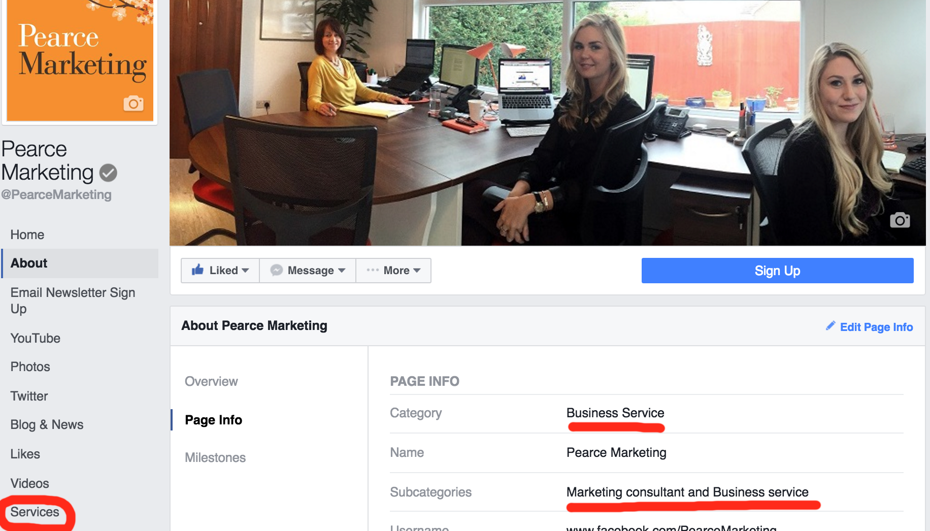 How to add services to your Facebook business page