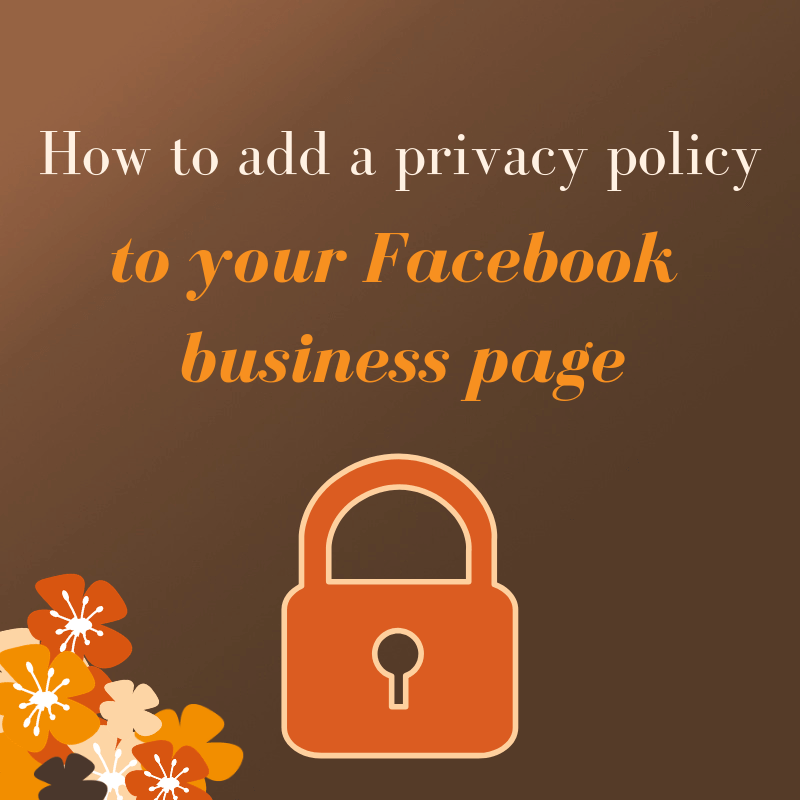 How to add a privacy policy to your Facebook business page -