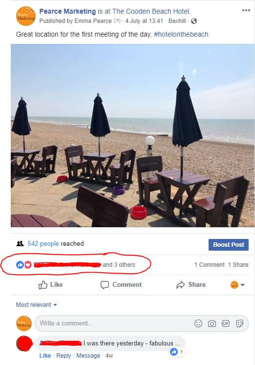 Invite people to to like your Facebook Business Page | Pearce Marketing | East Sussex