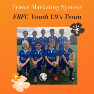 Pearce Marketing Sponsor EBFC youth U9's team!