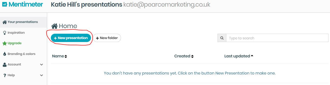 Mentimeter presentation tool | Pearce Marketing - East Sussex